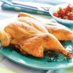 Butterflied Chicken Dijon grilled on a bed of Thyme
